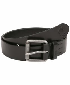 Leather Belt- Black - Black